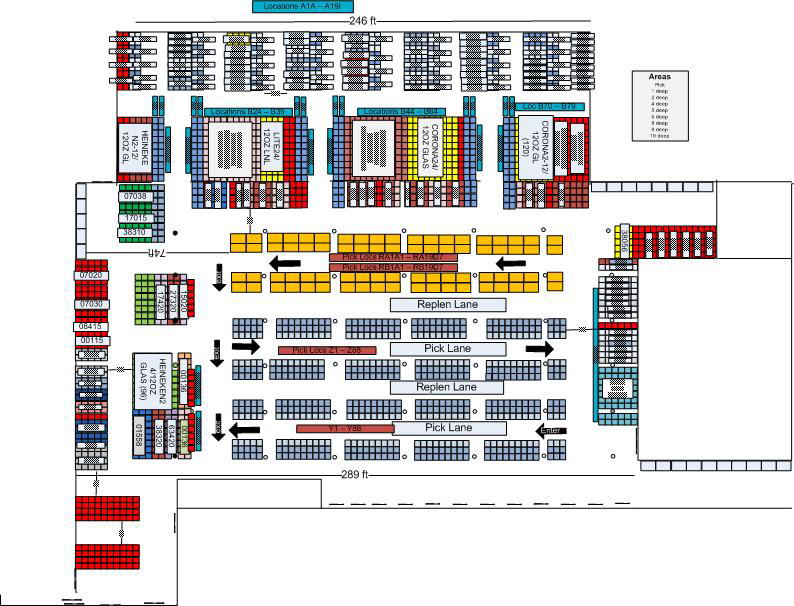 Warehouse layout and slotting warehouse design warehouse for Warehouse racking layout software free